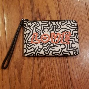 Coach × Keith Harings wristlet